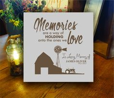 Items similar to Personalized Memorial Sign for Farmer, Religious Scripture Barn Scene Memorial Gift, Farmer Memorial, Dad Sympathy Gift, Grandpa on Etsy