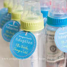 Baby Bottle Fundraiser Campaign Kit #adoption