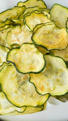 Salt and Vinegar Zucchini Chips ~ only 40 calories per serving and low carb too!
