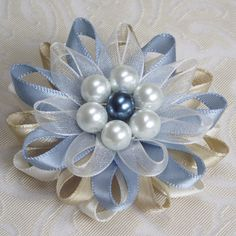 Идея...Dress Pin - Blue Pin Brooch by PetalPerceptions on Etsy