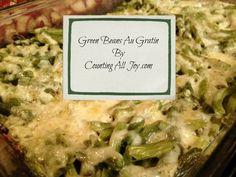 Green Beans Au Gratin ~ S {Trim Healthy Mama, Gluten Free, Grain Free, Sugar Free}