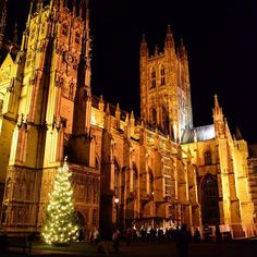 Christmas is not Christmas for me without seeing Canterbury Cathedral all lit up at night with the Christmas tree and wooden nativity next to it. The Christmas lights are all twinkling up and down every street, and all of the shop windows compete to be the best (and I'm lucky enough to be one of the judges each year!) It takes less than an hour to get here with @se_railway from St Pancras, and this is honestly the most magical time to visit our great city which so many people don't think to…