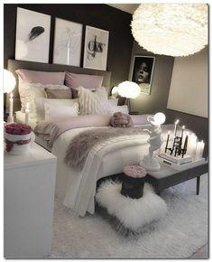 30 Teen Girl Bedroom Decor Ideas Home Bedroom Decor White Bedroom Decor, Room Ideas Bedroom, Home Decor Bedroom, Living Room Decor, Bedroom Designs, Budget Bedroom, Bedroom Styles, Black Bed Room Ideas, Bedroom Ideas For Small Rooms Cozy