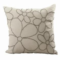 French Knot Cushion - White / Natural nice as an overall design?