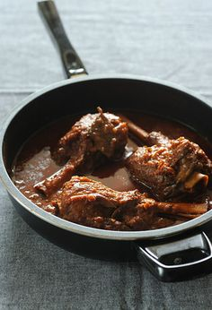 Cinnamon Braised Lamb Shanks