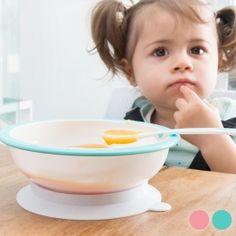 Taça com Ventosa Antirrotação e Colher para Bebés Baby Kids, Tableware, Kitchen, King, Gourmet, Gifts, Spoons, Food, Bebe