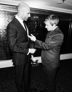 Mark Strong & Martin Freeman