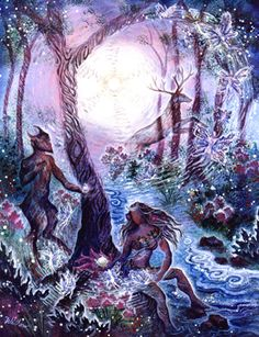 The Visionary Art of Willow Arlenea - Pan and Diana Pagan Art