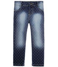 Calça Infantil Poá em Jeans - Tam 1 a 4 anos  - Lojas Renner
