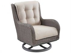 Shop this paula deen outdoor dogwood wicker swivel lounge chair from our top selling Paula Deen Outdoor lounge chairs. PatioLiving is your premier online showroom for patio seating and high-end outdoor furniture. Outdoor Bar Stools, Patio Lounge Chairs, Lounge Chair Cushions, Outdoor Rocking Chairs, Cool Chairs, Swivel Chair, Outdoor Lounge, Outdoor Living, Comfortable Outdoor Chairs