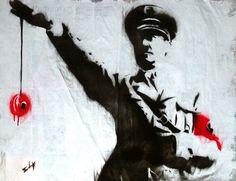 "Saatchi Online Artist: Sly Juan; Street Art ""Yo-Yo Hitler"".... got this and its AWESOME!!!"