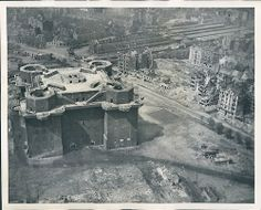 Zoo Flak Tower in Berlin After Extensive Bombings, 1945.