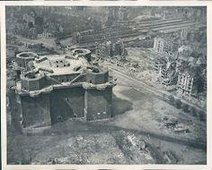 Zoo Flak Tower in Berlin After Extensive Bombings, 1945.