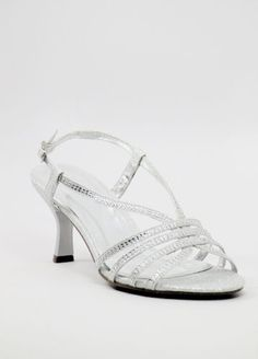 """Wedding Shoes Silver with 2"""" heels (Style 200-39)"""