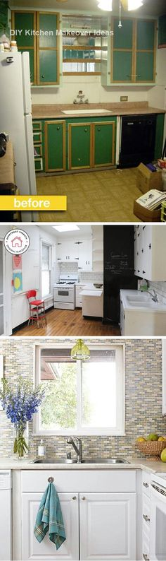 16 Awesome Ideas for Kitchen Makeovers #Diykitchen #Kitchenmakeover