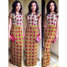 Ajusté africaine robe Maxi                                                                                                                                                     Plus