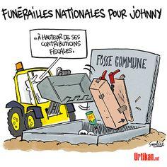 Obsèques de Johnny : sa dépouille quitte Paris pour Saint-Barth - Dessin du jour - Urtikan.net