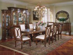 AICO Villagio Rectangular Dining Table Set by Michael Amini by AICO for $1,957…