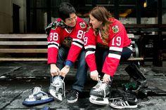 Blackhawks Hockey Engagement Session