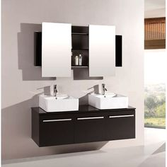 "Found it at Wayfair - Agni 59.25"" Double Vanity Set with Mirror"