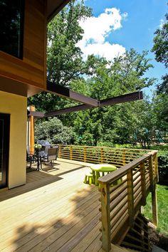 Horizontal Deck Railing Designs Wood wood railing at http://awoodrailing.com