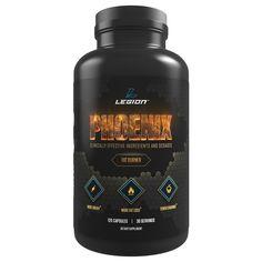 Legion Phoenix Caffeine Free Fat Burner Supplement - All Natural Thermogenic Weight Loss Pills, Metabolism Booster