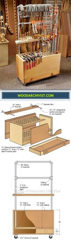 DIY Clamp Caddy - Workshop Solutions Projects, Tips and Tricks | WoodArchivist.com