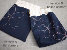 sakura sashiko diy embroidered pouch kit