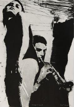 "Saatchi Online Artist Pawel Kwiatkowski; Printmaking, ""Red tango bis"" #art"