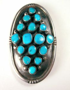 Vintage Navajo ring, sterling and turquoise