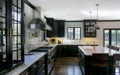 Trendy kitchen black marble countertops floors ideas