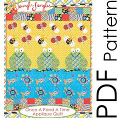 Once a Pond a Time Appliqué Quilt Pattern | Jennifer Jangles