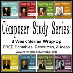 Study Series: 8 Week Series Wrap-Up! Composer Study Wrap Up Series!Composer Study Wrap Up Series! Classical Education, Music Education, Physical Education, Health Education, Education Quotes, Piano Lessons, Music Lessons, Ringo Starr, Middle School Music