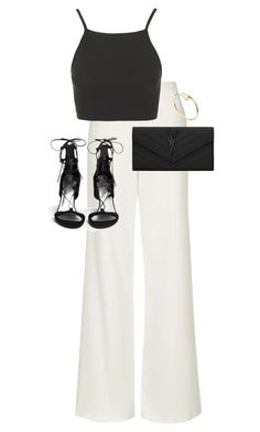 """""""Untitled #9534"""" by alexsrogers ❤ liked on Polyvore featuring Topshop, Stuart Weitzman, Cartier and Yves Saint Laurent"""