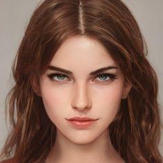 Digital Art Girl, Digital Portrait, Portrait Art, Female Character Inspiration, Fantasy Inspiration, Fantasy Art Women, Fantasy Girl, Character Portraits, Character Art