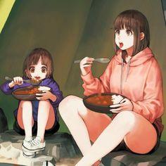 [일러스트] 뭔가 먹는 여자를 잘그리는 일러스트레이터 じゅん(쥰)님 일러스트 모음 : 네이버 블로그 Multimedia, Various Artists, Twitter, Cute Girls, Knight, Digital Art, Creatures, Drapery, Anime Girls