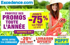 Offre découverte #excedence sur le site 3Suisses.fr : pop-under. Code POPPY. #EmailMarketing #DigitalMarketing #EmailDesign #EmailTemplate #SocialMedia #EmailNewsletters #EmailRetail #excedence #codepromo #codereduction #livraisonofferte