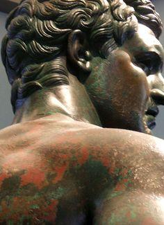 Greek bronze statue at Massimo Museum, Rome, Italy