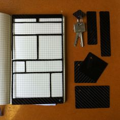 Carbon Fibre Moleskine Template Tutorial - Instructable by jgattas (Can use any material for Template)
