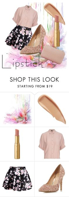 """Untitled #35"" by sippycupcorpse ❤ liked on Polyvore featuring Sisley, Too Faced Cosmetics, Topshop, WithChic, Head Over Heels by Dune and Dune"