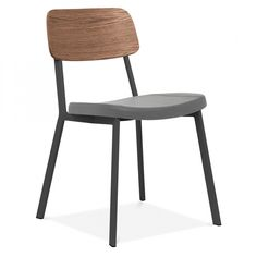Cult Living Hipster Chair Black With Grey Faux Leather Seat