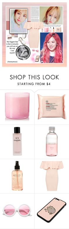 """""""SDDN [ Task Set ]"""" by julia-ngo ❤ liked on Polyvore featuring LAFCO, Paloma Barceló, Polaroid, The Body Shop, Chanel, Lord & Berry, philosophy, WearAll, ZeroUV and Pusheen"""