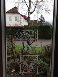 Raam tekening, leuke winter/kerst versiering, windowmarker ebbing. Fenetre art