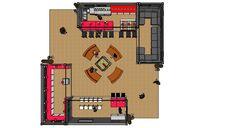 FCSI Pavilion Four Box Design Plan designed by LU Schildmeyer