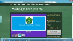 the main page of the website - Mading MAN 7 Jakarta