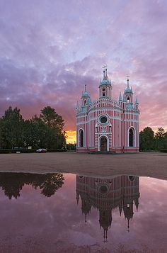 Chesme Church, St. Petersburg - Russia - Explore the World with Travel Nerd Nici, one Country at a Time. http://travelnerdnici.com
