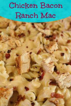 Chicken Bacon Ranch Macaroni and Cheese. Homemade macaroni and cheese with a… Bacon Mac And Cheese, Mac And Cheese Homemade, Macaroni Cheese, Homemade Pasta, Chicken Bacon Ranch, Cooking Recipes, Oven Recipes, Vegetarian Cooking, Easy Cooking