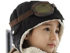 Newborn Photography Prop  Aviator Hat complete by BeansInaBucket, $16.50