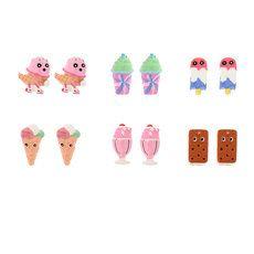 Katy Perry Ice Cream Stud Earrings Set of 6