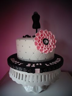 - Was asked to create a 21st birthday cake for a girl who was studying fashion. the client wanted a very simplistic cake, but pretty. this is what i came up with.